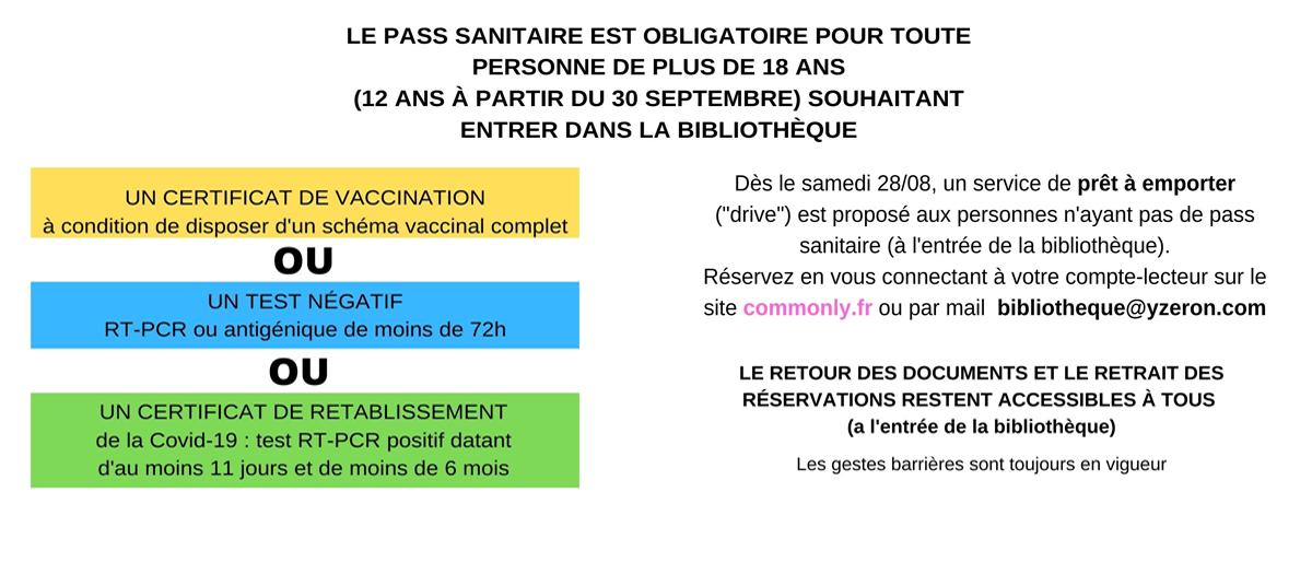 Permalien à: Pass sanitaire obligatoire